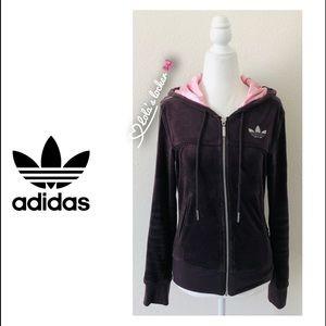 Adidas Full Zip Velour Jacket
